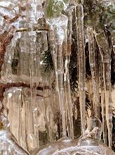 Photo: lodowe sople w drżących kroplach wody wiosenne słońce  (15-02-2006)