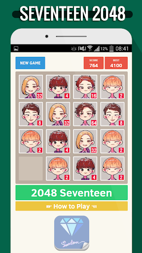 解謎必備免費app推薦|2048 Seventeen KPop Game線上免付費app下載|3C達人阿輝的APP