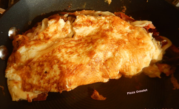Pizza Omelet Recipe