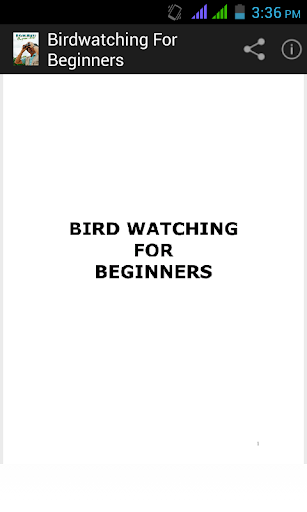BirdWatching For Beginners.