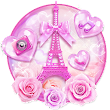 Pink Love Eiffel Tower Theme 💗