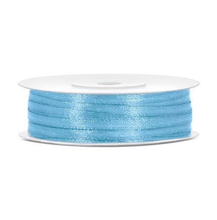 Satinband - Himmelsblå 3 mm