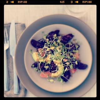 Beet, Avocado & Grapefruit Salad.