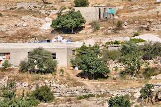 Photo: For all these new houses the Israeli army issued demolition orders, as they were not within the plan that recently was permitted. The main goal of the Israeli government is to confiscate as many Palestinian land as possible with a minimum of Palestinians.