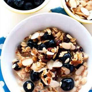 Overnight Blueberry-Almond Muesli.