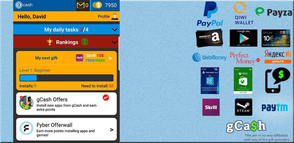 Make Money & Free Gift Cards by gCash Team Apk Download