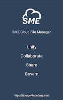 Screenshot of SME Cloud File Manager