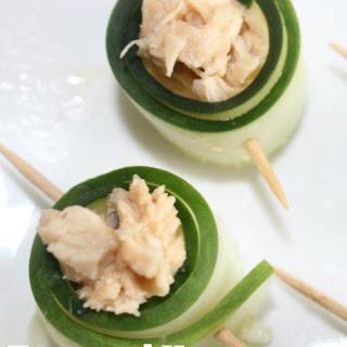Tuna and Hummus Cucumber Roll-Ups