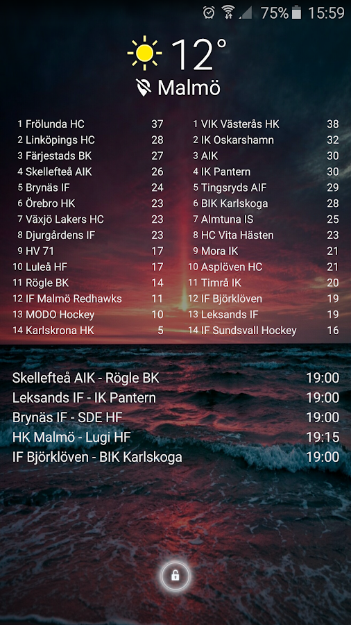 Sportstats- screenshot
