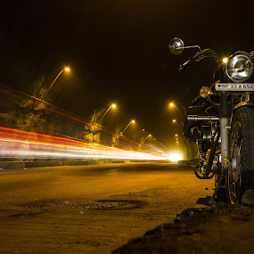 The Light Sow by Akash Deep - Transportation Motorcycles ( long exposure click, motorcycle, royal enfeild )