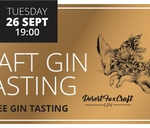 Gin Tasting Evening at Craft Exchange with Desert Fox Gin : Thirst@28degrees East