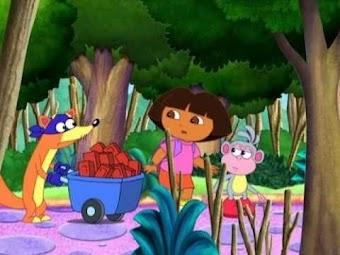 Dora und die drei kleinen Schweinchen