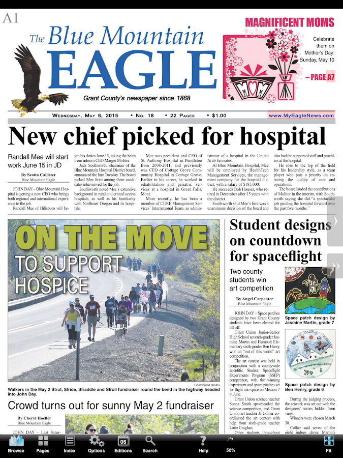 Blue Mountain Eagle e-Edition- screenshot