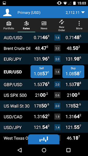 OANDA fxTrade for Android screenshot 2