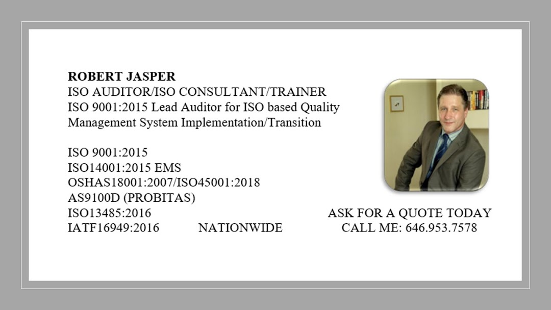 Iso 9001 Consultant Certified Iso Auditor Iso Training New York