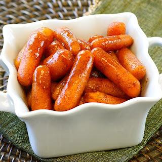 Slow Cooker Cinnamon Sugar Glazed Carrots.
