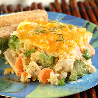 Creamy Chicken and Rice Bake.