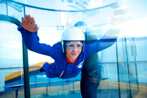 Practice your sky-diving skills — safely — with RipCord by iFly, available on Anthem of the Seas and other Quantum-class ships.
