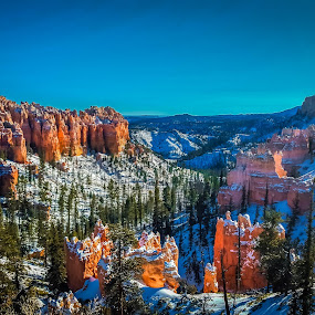 bryce canyon by Sunil Pawar - Landscapes Mountains & Hills ( water, clouds, green, lake, travel, mountains, sky, winter, cold, utah, blue, arizona, snow, trees, sunrise, rocks,  )
