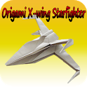 How to make Origami X-wing Starfighter icon