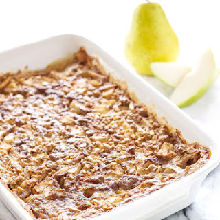 Pear Almond Steel Cut Baked Oatmeal