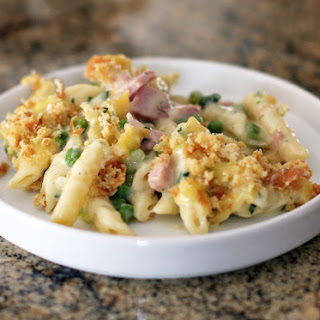 Penne Bake with Ham and Peas Recipe