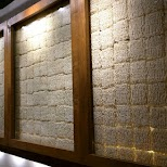 walls made out of ramen in Tokyo, Tokyo, Japan