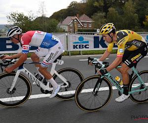 """🎥  Heerlijke beelden van Mathieu van der Poel en Wout van Aert net na de finish van de Ronde van Vlaanderen: """"Ik denk dat jij wint"""""""