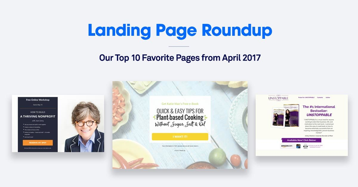 10 Best Landing Pages from April 2017