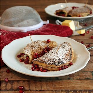 Cheesecake Stuffed Cinnamon-Sugar Pancakes
