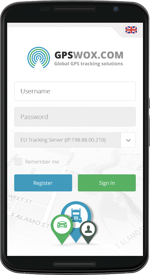 GPSWOX Mobile Client- screenshot