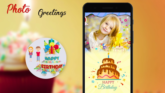 Name Photo on Birthday Cake: Photo Frame - náhled