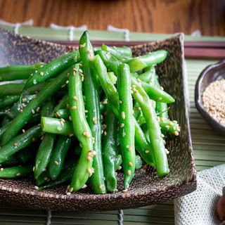 Garlicky Sesame Stir Fried Green Beans.