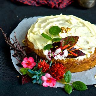 Moist Low Fat Carrot Cake.