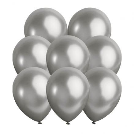 Ballonger, metallic silver 10 st