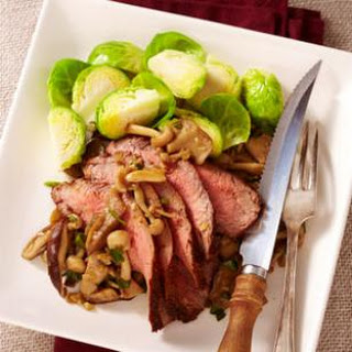 Spice-Rubbed Steak with Sautéed Wild Mushrooms