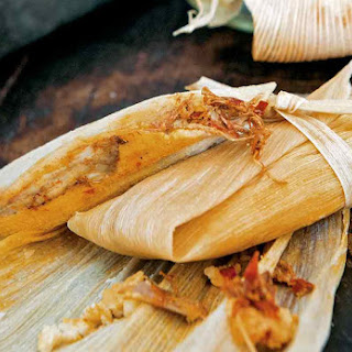 Red Chile Pork Tamales.