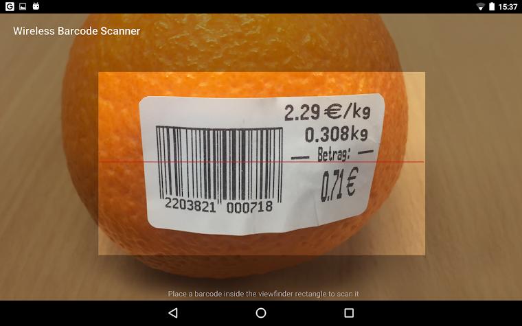 Wireless Barcode-Scanner, Full Screenshot