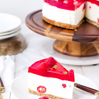 Raspberry Mousse Cake Recipe {No Bake}