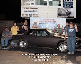 Photo: Footbrake Winner 5-18-13