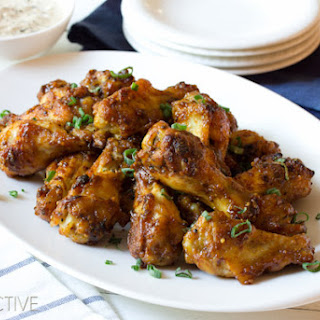 Spicy Oven Chicken Wings with Apple Onion Dip