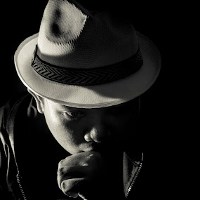 Man in the shadow~ by Kay Eimza - People Portraits of Men