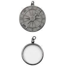 Tim Holtz Assemblage Charms 2/Pkg - Compass & Monocle
