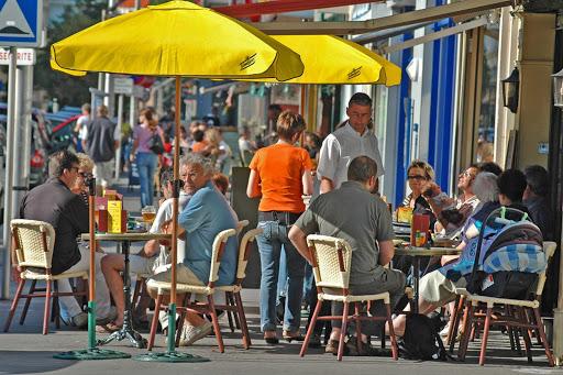 Enjoy the cafes of Terrasse Halles in Le Havre, France.