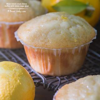Meyer Lemon Cream Cheese Muffins With Lemony-sugar Glaze.