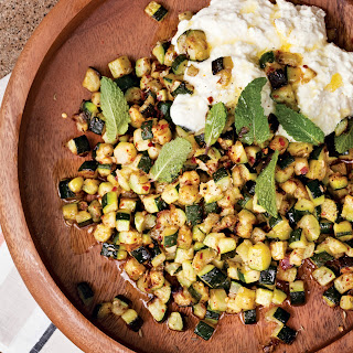 Roasted Zucchini with Ricotta and Mint Recipe