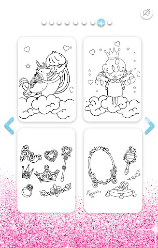Girls Coloring Book for Kids Glitter apkpoly screenshots 8