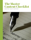 Master Content Checklist Cover Page