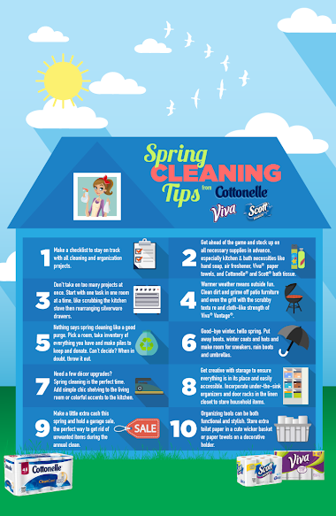 Spring Cleaning Tips from Kimberly-Clark and Walmart