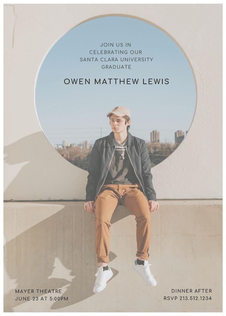 Owen's Graduation Party - Graduation Announcement Template